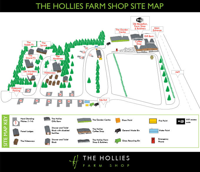 hollies-site-map